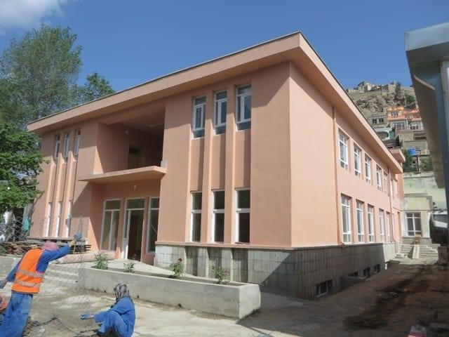 Façade de la future Maison des enfants à Kaboul