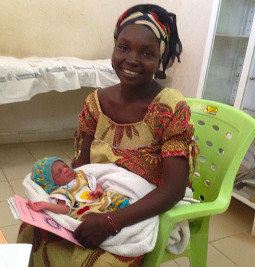 Ahoua avec son bébé