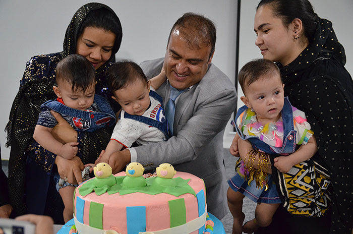 First birthday of triplets in FMIC