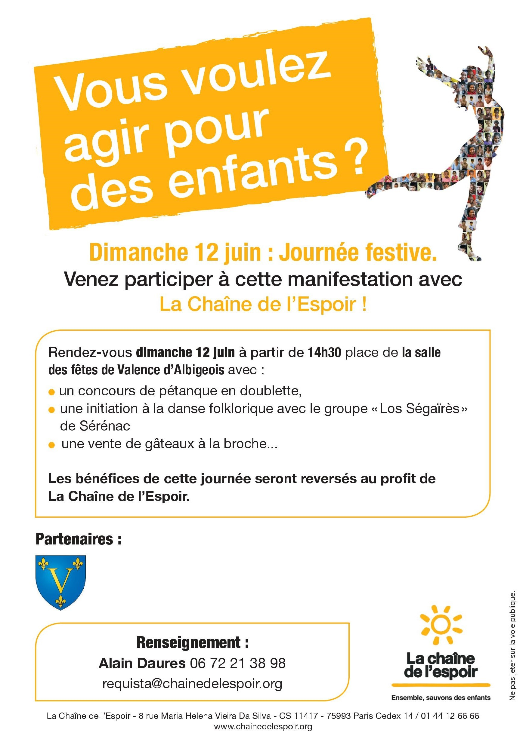 Bouger pour des enfants en Aveyron