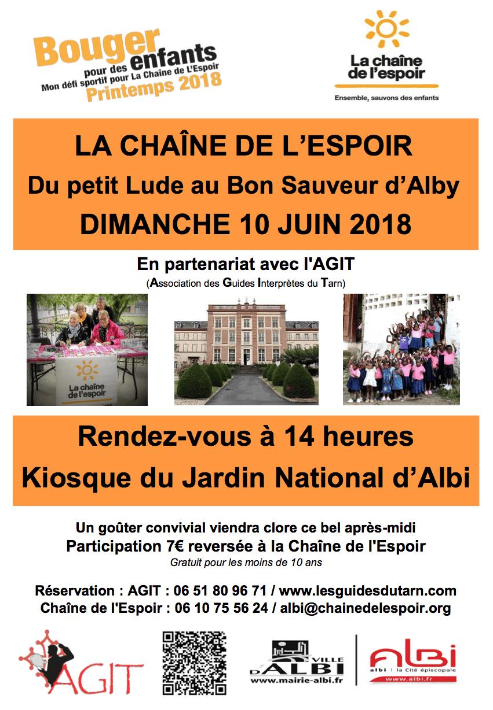 Bouger pour des enfants à Albi 2018