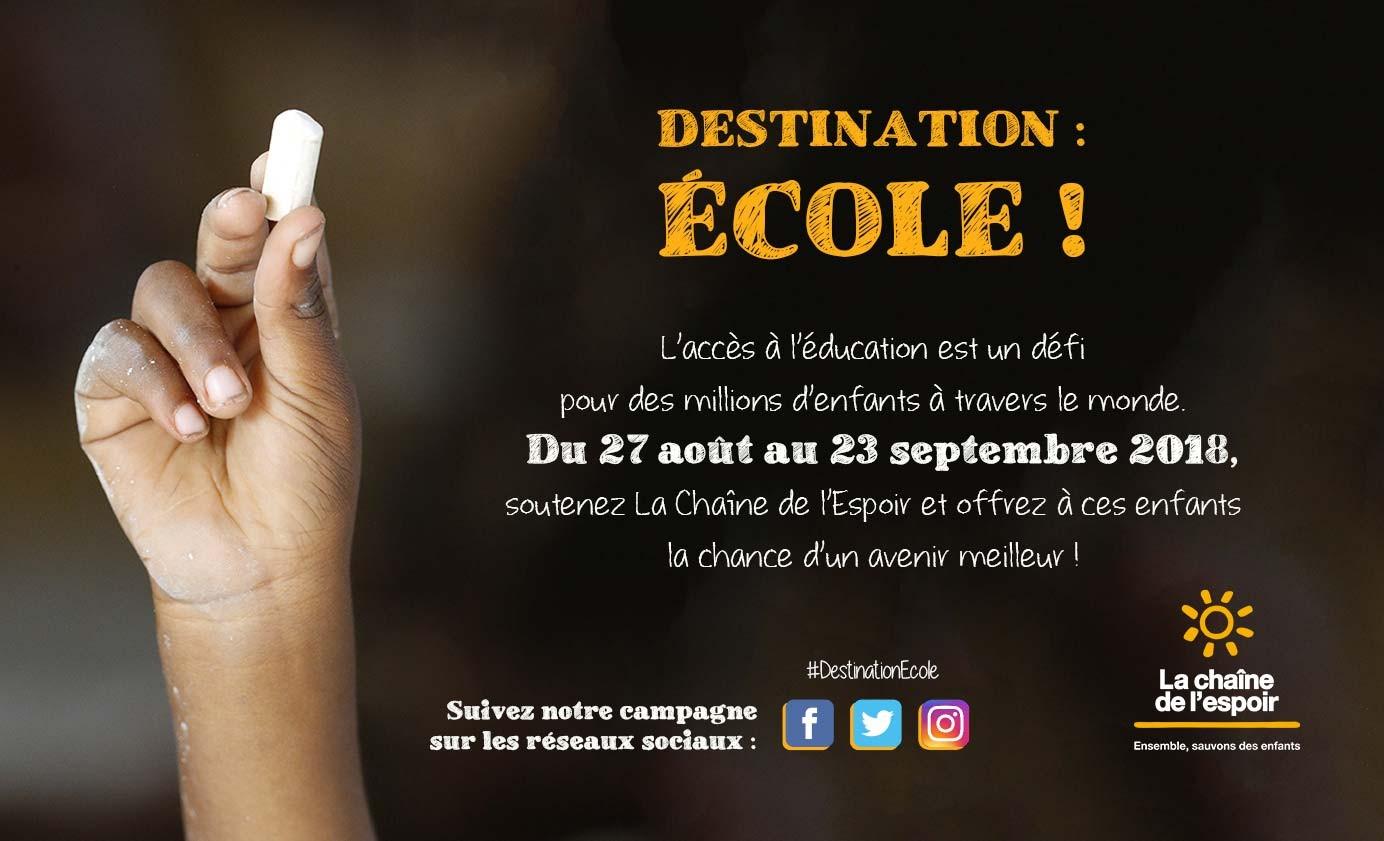Destination : Ecole
