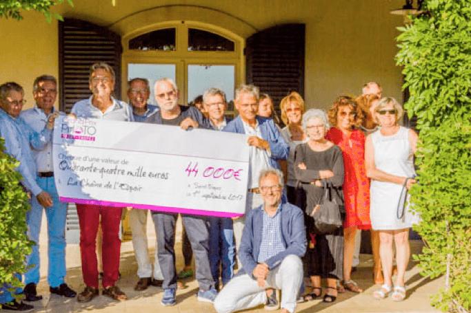 Remise de chèque à Saint-Tropez