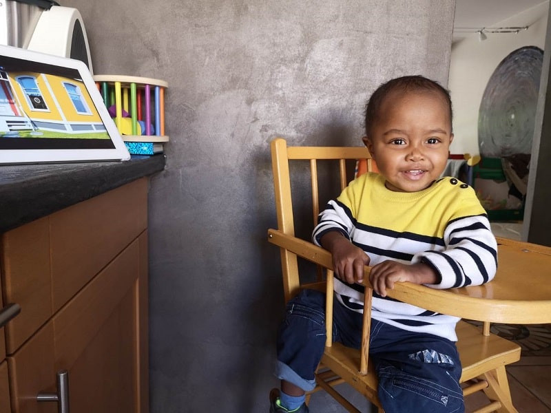 Le petit Luca originaire de Madagascar