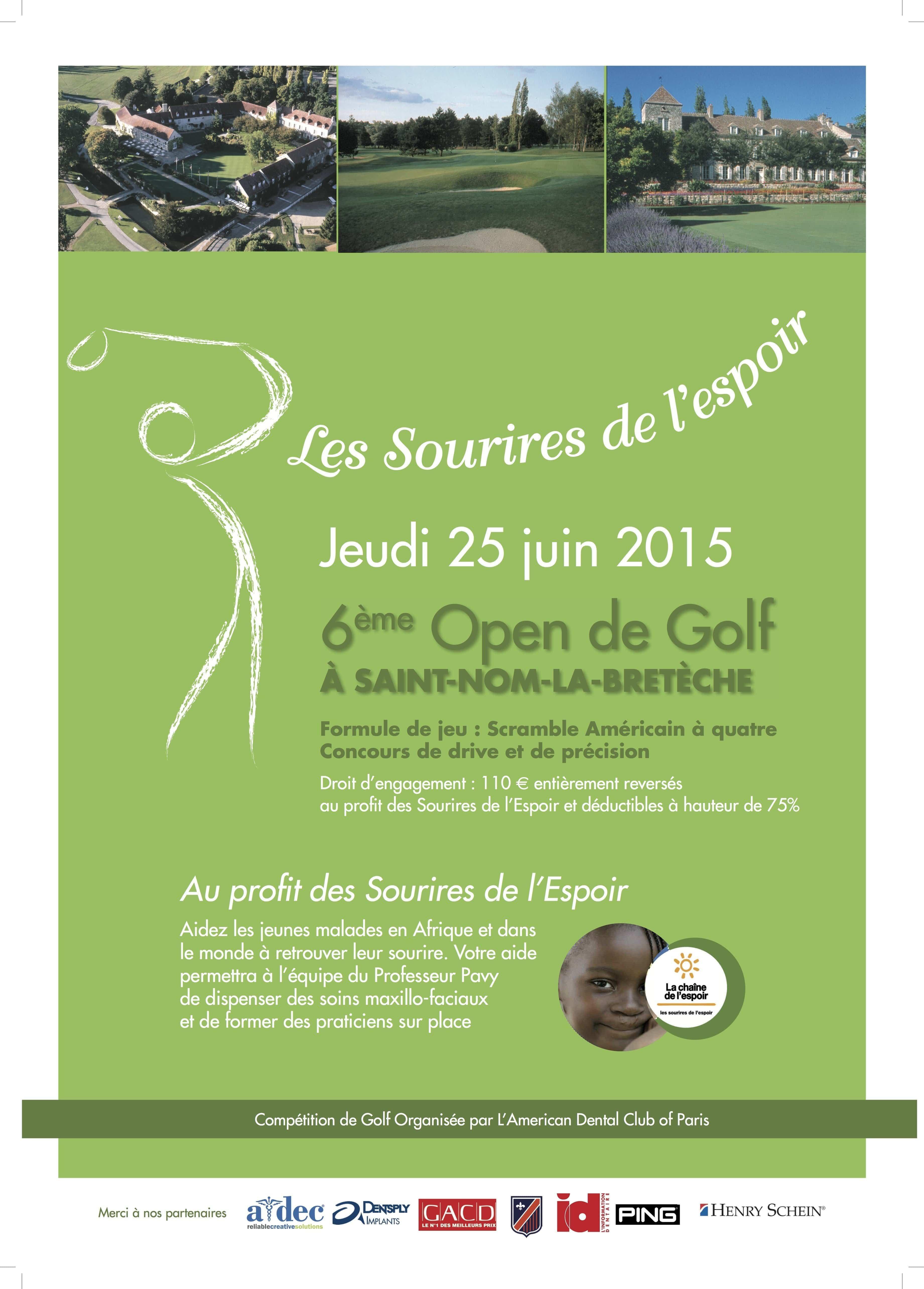 Tournoi de golf de Saint-Nom La Brêteche