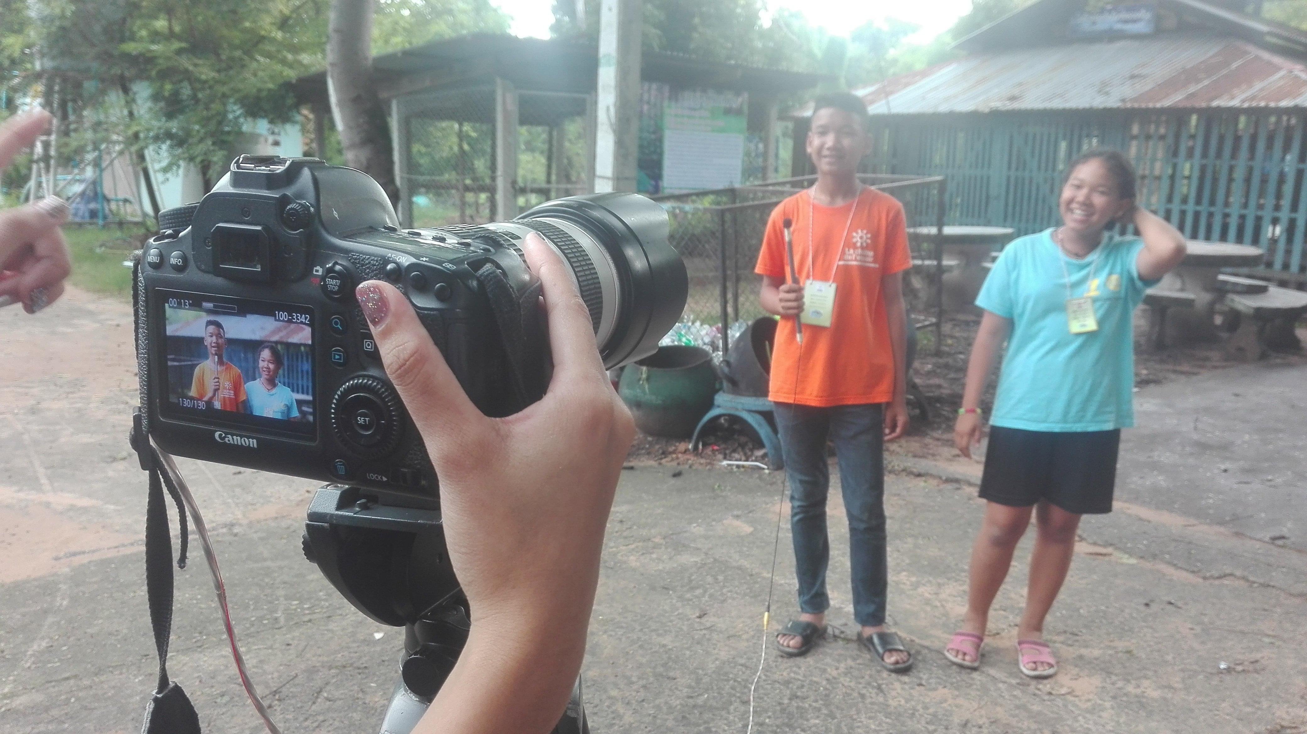 Jeunes reporters en Thaïlande