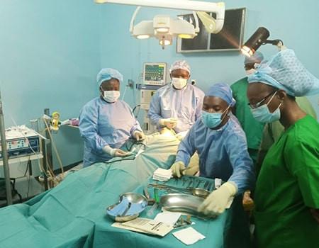 Opération réalisée en juin 2021 lors de la mission de chirurgie réparatrice au Burkina Faso