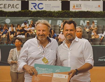 Remise du chèque à l'issue de l'Open Pays d'Aix CEPAC 2021