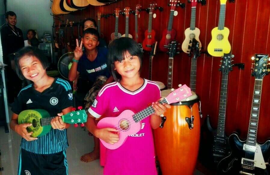 Cours de musique en Thaïlande