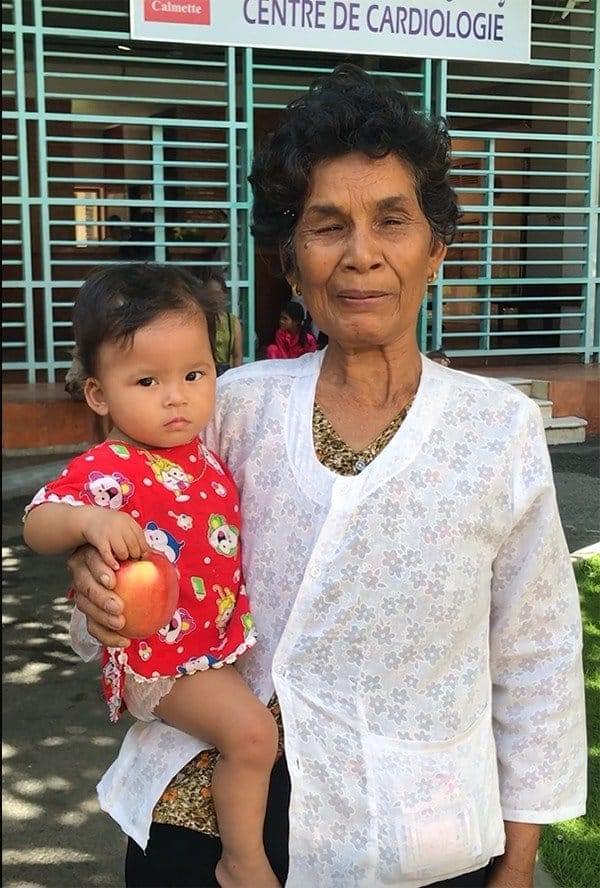 Sophea et sa grand-mère