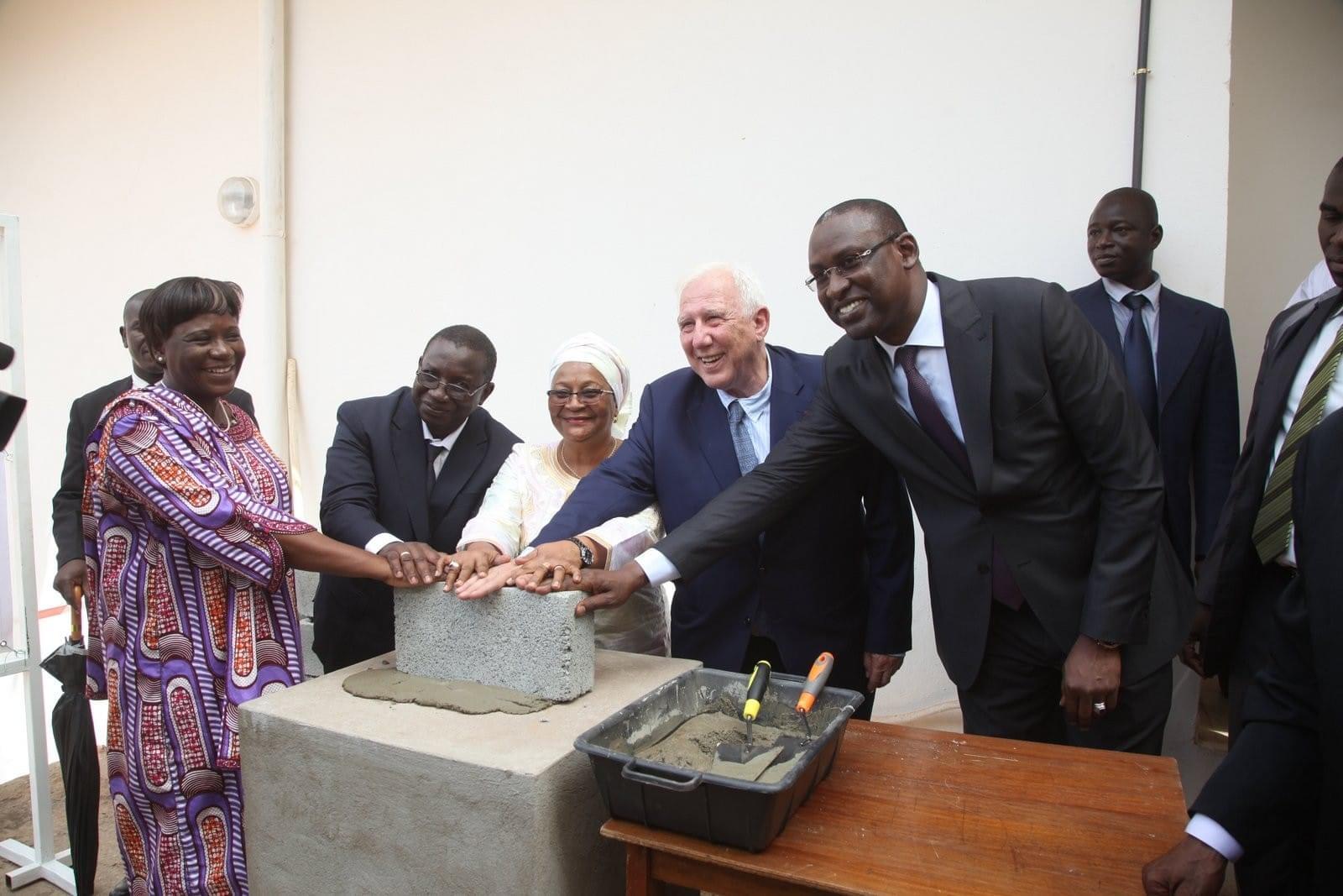 Cérémonie de la pose de la première pierre au Mali