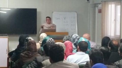 Pascale Levasseur en mission de formation en Afghanistan