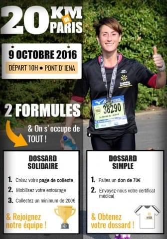 20 km de paris 2016 avec La Chaîne de l'Espoir
