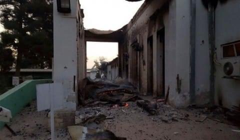 L'hopital de MSF à Kundunz après le bombardement