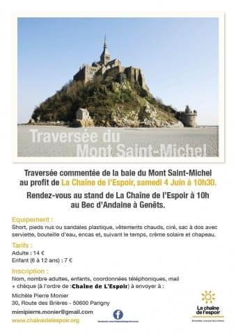 Traversée de la baie du Mont Saint-Michel