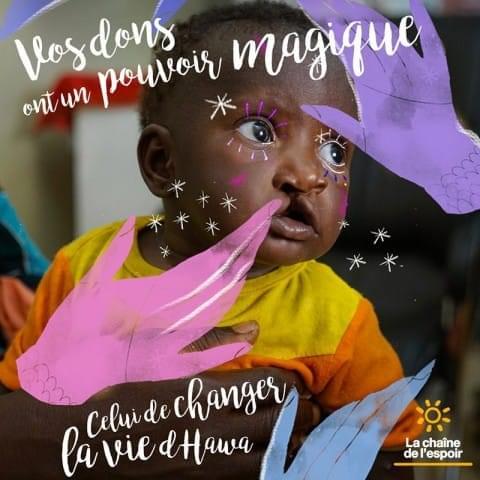 Campagne Les Sourires de l'Espoir avec Natacha Birds