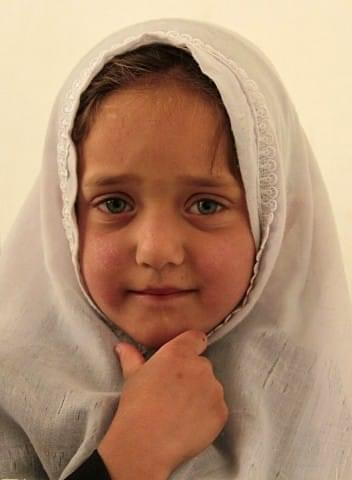Portrait of an Afghan child