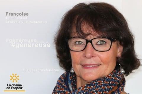 Portait de Francoise, bénévole à La Chaîne de l'Espoir
