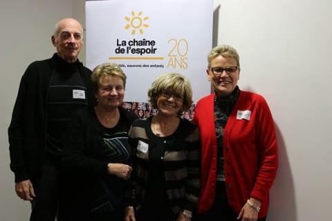 Les bénévoles de l'antenne de La Chaîne de l'Espoir Albi