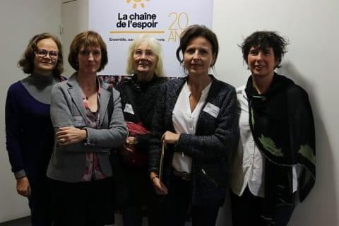 Les bénévoles de La Chaîne de l'Espoir Nantes