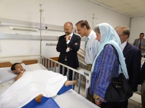 The ambassador visits a patient