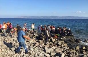 Lesbos, a ship arrival