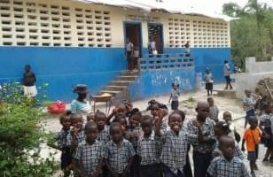 Les écoliers de la commune des Abricots en Haïti