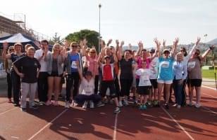Les bénévoles de La Chaîne de l'Espoir sur un événement sportif