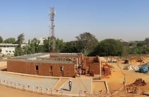 Le chantier du Pavillon des Enfants à Dakar