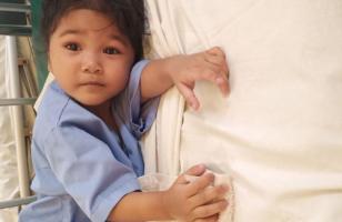 Sokha avant son opération du cœur
