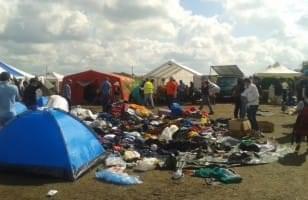 Refugee camp in Röszke