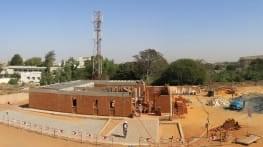 dakar  construction of the children's pavilion