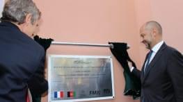 inauguration du pavillon des enfants a kaboul