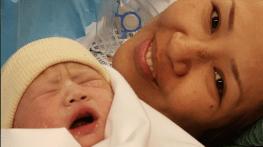 le premier bebe de la maternite est ne !