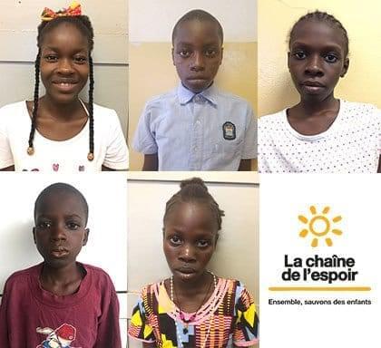 Transfert de 5 enfants de Guinée Bissau