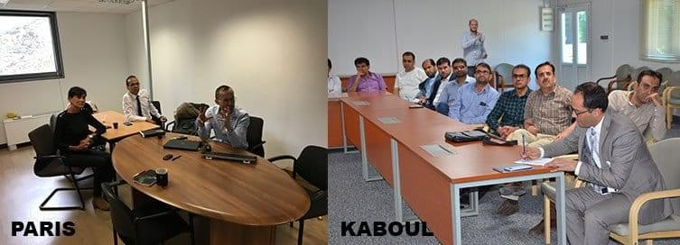 Videoconference of cataract Paris-Kabul